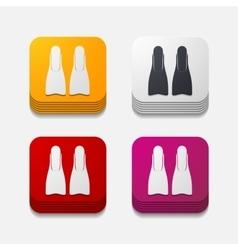 Square button flipper vector