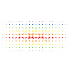 Sun spectral halftone pattern vector