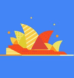 Sydney australia famous city landmark vector