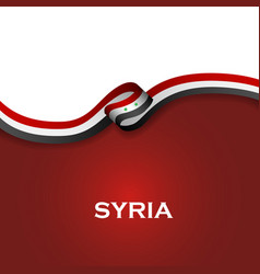 Syria sport style flag ribbon classic style vector