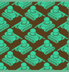 Tank military pattern seamless war machine vector