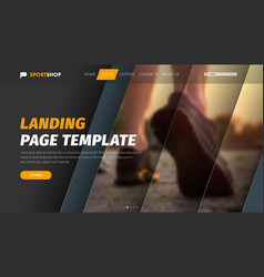 Template header with diagonal elements for photo vector