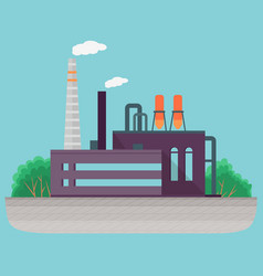 thermal power station for production electrical vector image
