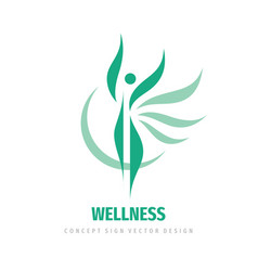 Wellness woman logo design abstract vector