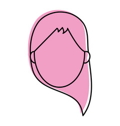 Woman avatar icon image vector
