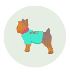 Yorkshire Terrier standing half-face icon vector