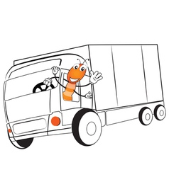 Ant drive a truck vector image