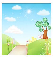 Fresh Background nature vector image