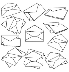 Post envelopes vector image vector image