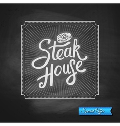 Steak House Special Offer promotion vector image vector image