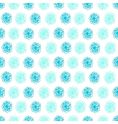 Summer seamless background with flower polka dots vector image vector image