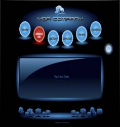 website blue spheres template vector image vector image