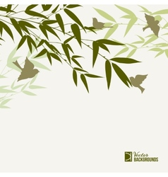 Bamboo forest card vector image vector image
