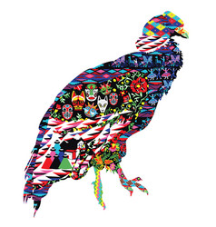 condor bird with patterns vector image vector image