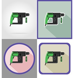 electric repair tools flat icons 16 vector image