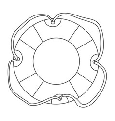 sketch contour flotation hoop with rope vector image vector image