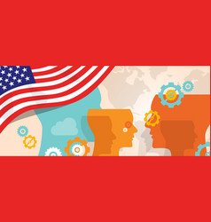 usa united states of america concept of thinking vector image vector image