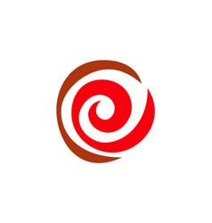 circle red abstract logo vector image