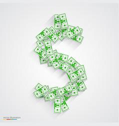 dollars flat green vector image