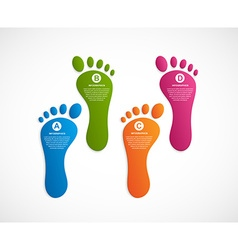 Foot modern design template infographics vector image vector image