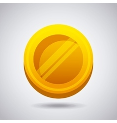 Gold coin icon vector