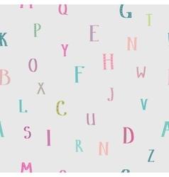 Kids alphabet seamless pattern vector image