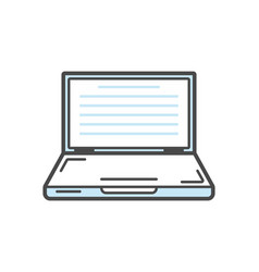 laptop isolated linear icon vector image