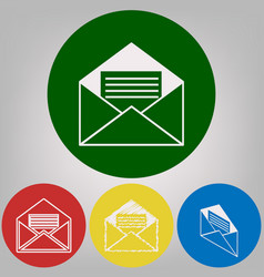 letter in an envelope sign 4 vector image