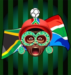 south african soccer fan vector image