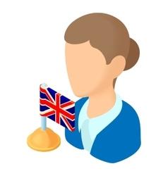 English teacher icon cartoon style vector image