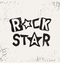 rock star grunge text vector image vector image