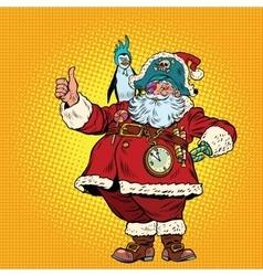 Santa Claus pirate thumb up vector image