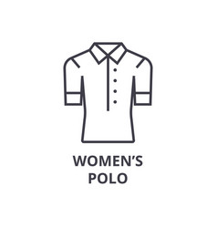 women polo line icon outline sign linear symbol vector image