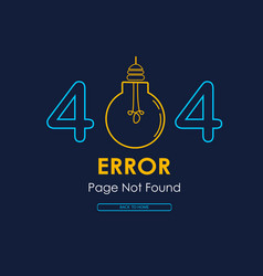404 error page not found lamp broken graphic vector