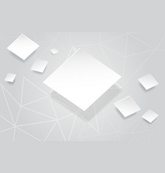 Abstract white background with white square vector
