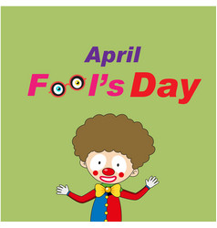 april fools day a jester background image vector image