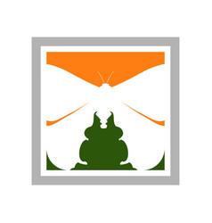 arthropods exploration window symbol design vector image