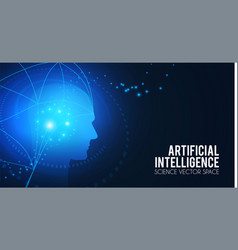 artificial intelligence big data web banner vector image