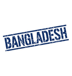 Bangladesh blue square stamp vector