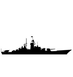 battleship eps vector image