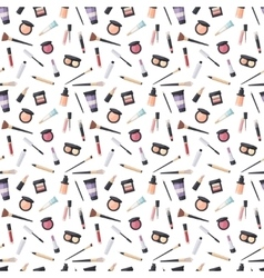 Beauty cosmetic seamless pattern vector image
