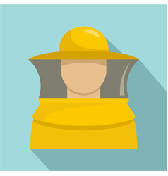 beekeeper man icon flat style vector image