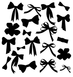 Black and white silhouette image of bow set vector