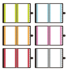 blank notebooks vector image