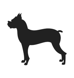 Boxer dog Black Silhouette vector image