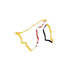 brunei map icon symbol vector image