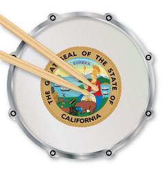 California snare drum vector