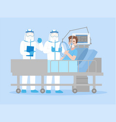Cheerful doctor in personal protective suit vector