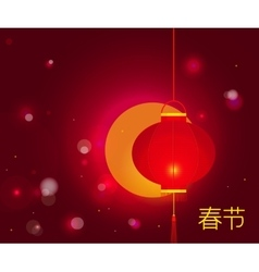 Chinese New Year background with characters Spring vector