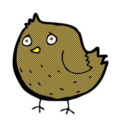 Comic cartoon bird vector